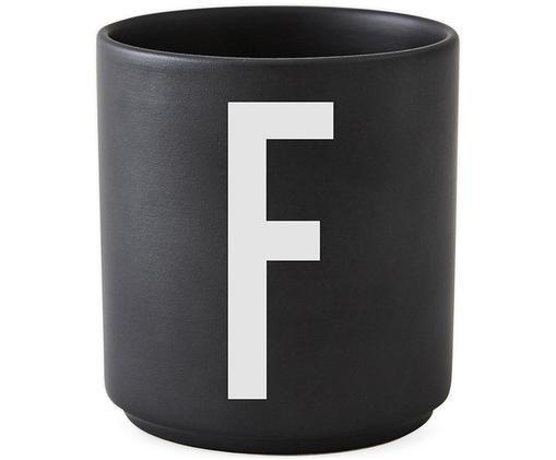 Kubek F, Czarny matowy, biały
