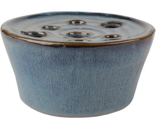 Decoratieve vaas Lucius, Blauw, bruin