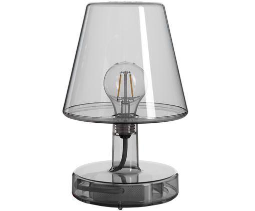 Mobile LED Außentischleuchte Transloetje, Grau, transparent