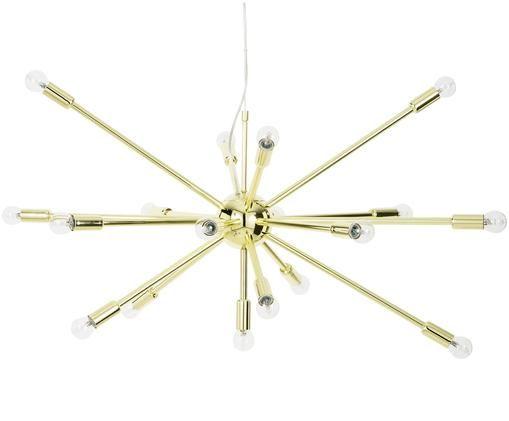 Lampada a sospensione ovale XL Spike, Dorato