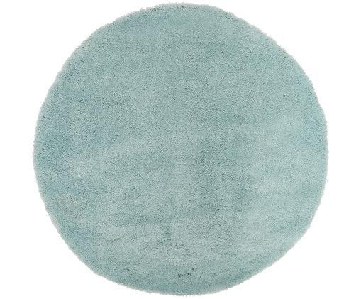 Flauschiger runder Hochflor-Teppich Leighton in Mint, Mintgrün