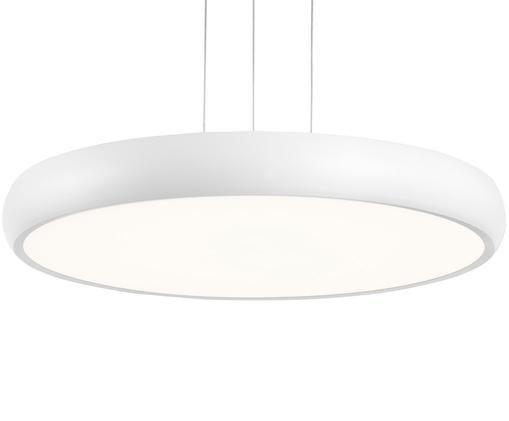 Lampada a sospensione a LED Asher, Paralume e baldacchino: Bianco opaco Diffusore: bianco Cavo: bianco