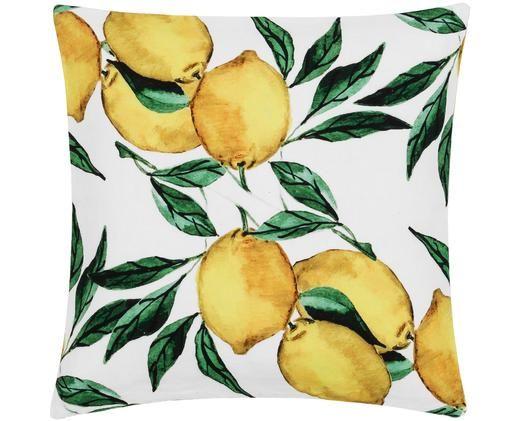 Kissenhülle Citrus, Gelb, Grün, Weiß