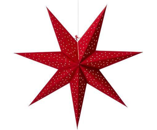 Estrella de Navidad de terciopelo Clara, Rojo