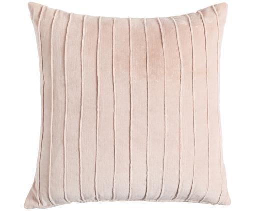 Cuscino reversibile Pintuck, Rosa cipria