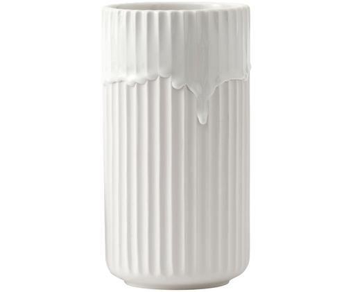 Lyngby Vase Running aus Porzellan, Weiß