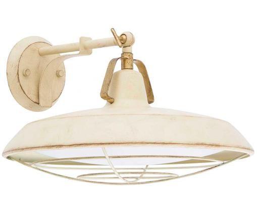Applique a LED per esterni Plec, Crema