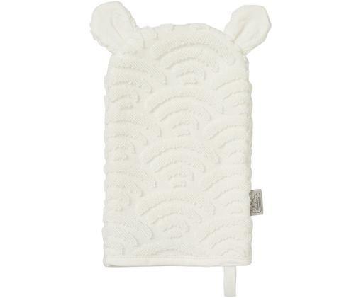 Waschlappen Wave aus Bio-Baumwolle, Gebrochenes Weiß