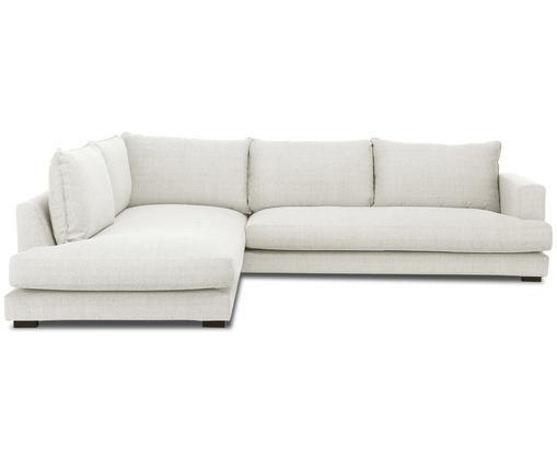 Divano con chaise-longue Tribeca, Rivestimento: beige Piedini: nero