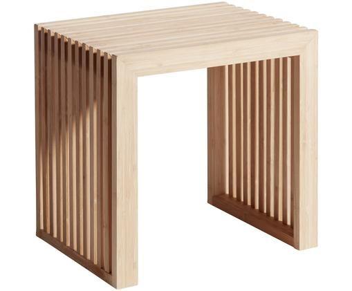 Hocker Rib aus Bambus, Braun