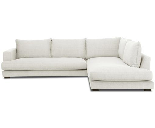 Canapé d'angle Tribeca, Revêtement: beige Pieds: noir