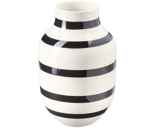 Ręcznie wykonany wazon Omaggio, duży, Czarny, biały