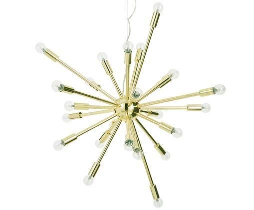 Suspension XL Spike, Rosace: couleur dorée Abat-jour: couleur dorée Câble: transparent