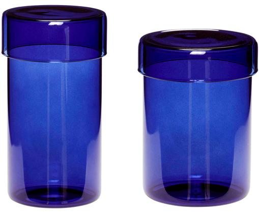 Opbergpottenset Transisto, 2-delig, Blauw
