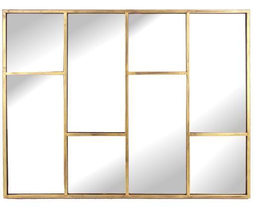 Espejo de pared Gina, Latón