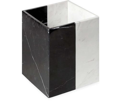 Design afvalemmer Canaan uit marmer, Zwart, wit