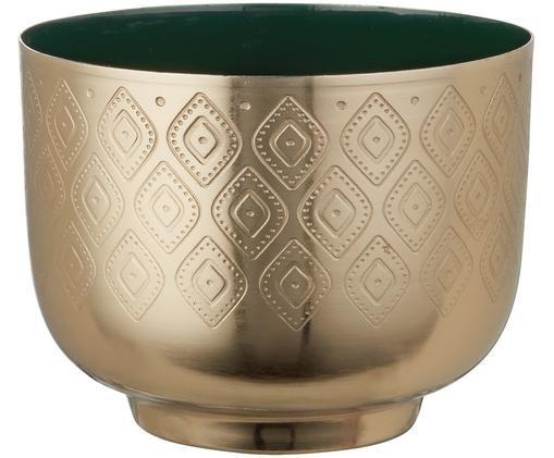 Teelichthalter Chiaro, Dunkelgrün, Messingfarben