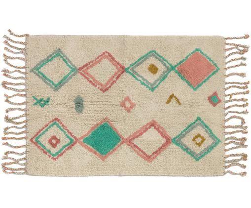 Tappeto Olimpia, Beige, verde menta, rosa, giallo senape