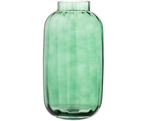 Mundgeblasene Vase Stina in Hellgrün, Hellgrün, leicht transparent