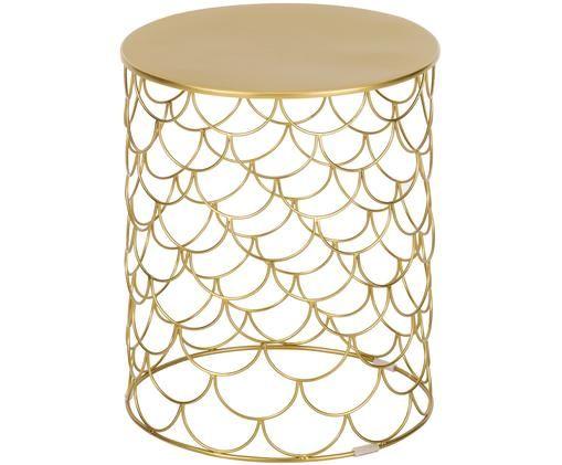 Table d'appoint River, Couleur dorée, léger brillant