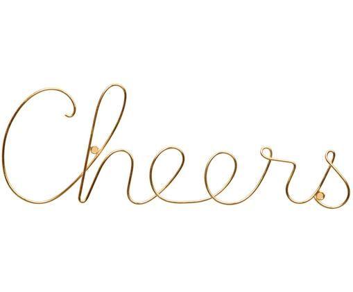 Wandobjekt Cheers, Goldfarben
