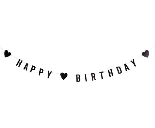 Girlande Happy Birthday, Schwarz