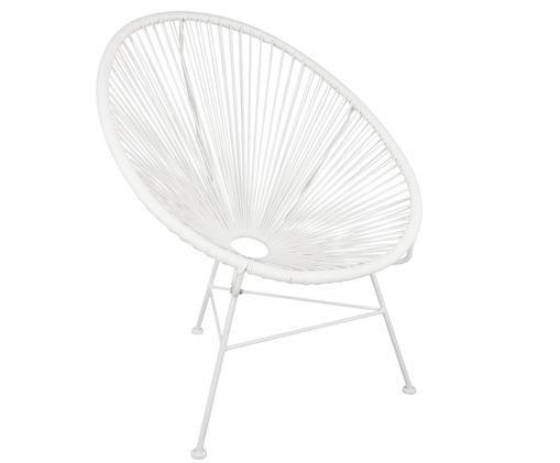 Fotel Bahia, Tworzywo sztuczne: biały Stelaż: biały