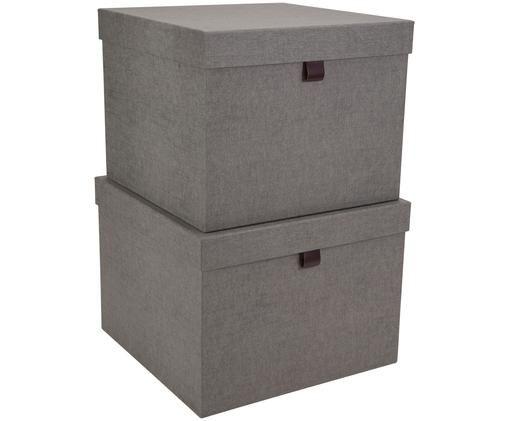 Set scatole custodia Tristan, 2 pz., Grigio
