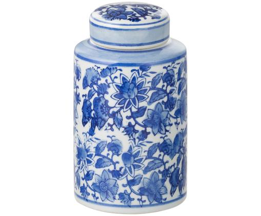 Vaso con coperchio  Annabelle, Blu,bianco