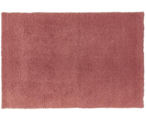 Flauschiger Hochflor-Teppich Leighton in Terrakotta, Terrakotta