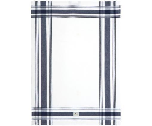 Strofinaccio Hotel Framed, Bianco, blu