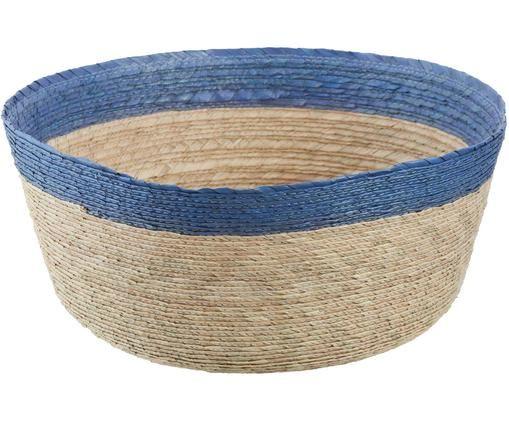 Corbeille à pain Suvi, Beige clair, bleu ciel