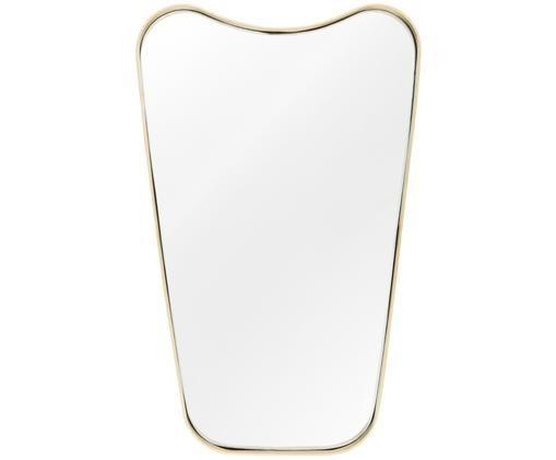 Wandspiegel Goldie, Geborsteld messingkleurig