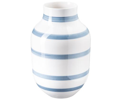 Vaso fatto a mano Omaggio Large, Azzurro, bianco