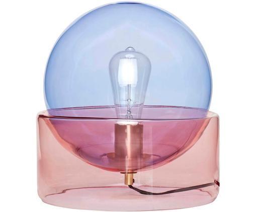 Lampe à poser Glondy, Bleu, rose