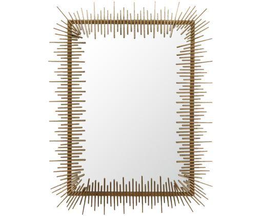 Specchio da parete Sticks, Ottone