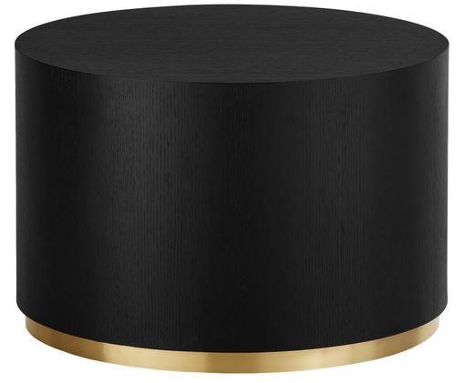 Stolik kawowy Clarice, Korpus: drewno jesionowe, czarny lakierowany Noga: odcienie złotego