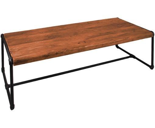 Tavolino da salotto Iron, Teak, nero