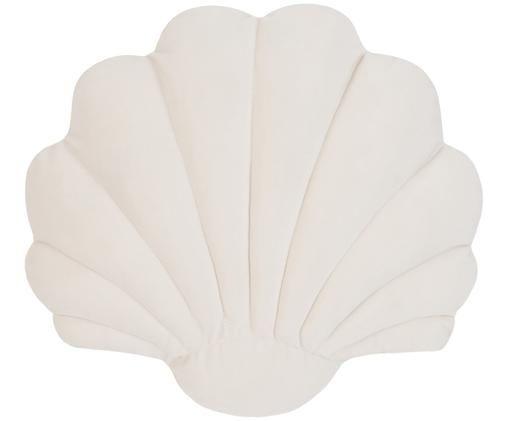 Samtkissen Shell, Cremeweiß