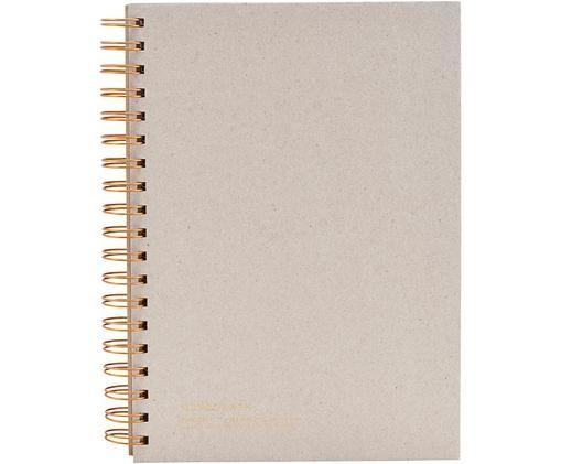 Carnet de notes Tab, Beige, couleur cuivrée