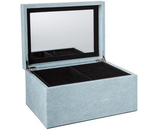 Schmuckbox Megan mit Spiegel, Blau