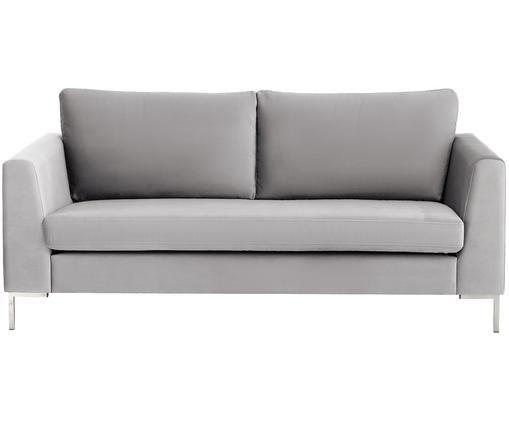 Samt-Sofa Luna (2-Sitzer), Beigegrau