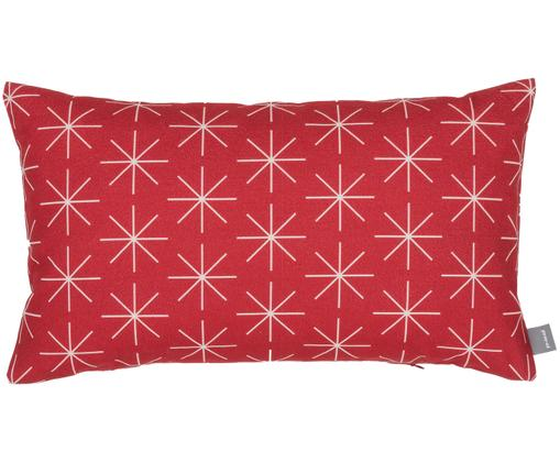 Kissenhülle Stella in Rot/Weiß, Rot, gebrochenes Weiß