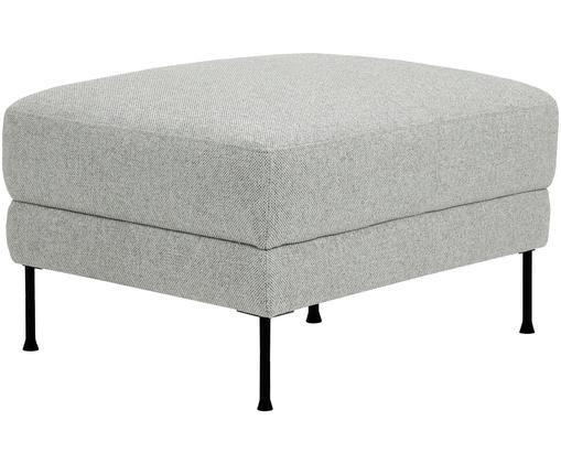 Sofa-Hocker Fluente, Hellgrau, Webstoff