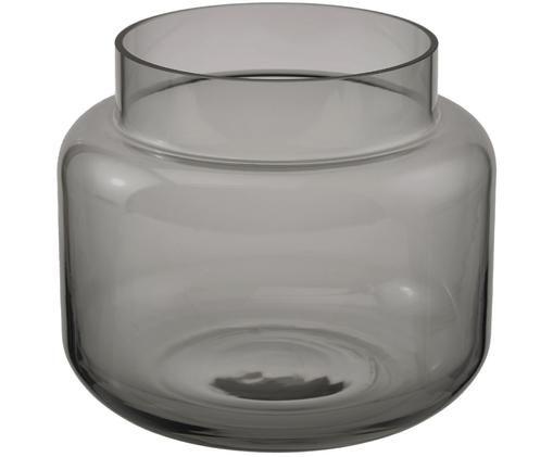 Glas-Vase Lasse, medium, Grau, transparent