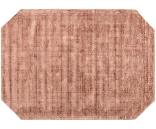 Handgewebter Viskoseteppich Jane Diamond, Terrakotta