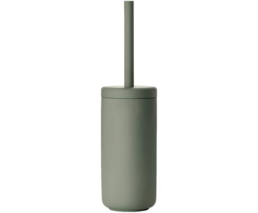 Toilettenbürste Ume mit Steingut-Behälter, Eukalyptusgrün