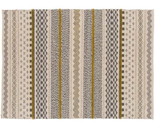 Tappeto di lana Nova, Grigio, senape, beige