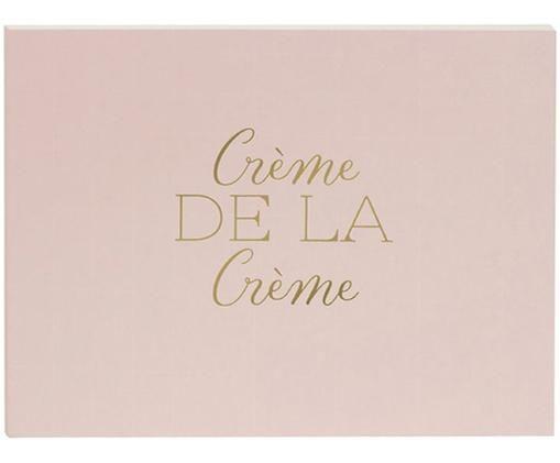 Gastenboek Crème de la Crème, Roze, goudkleurig