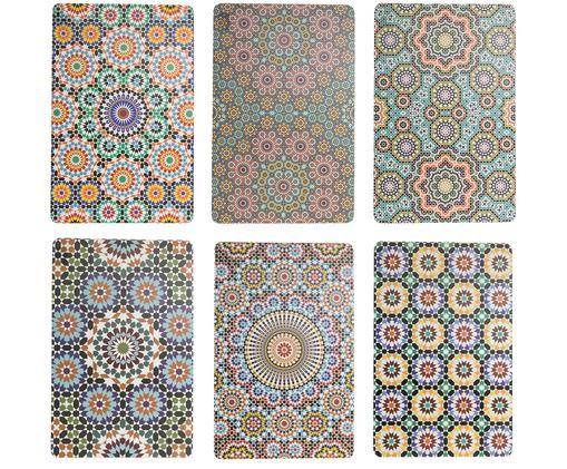 Set tovagliette Marrakech, 6 pz., Multicolore